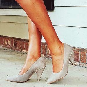 Nine West Gray Pointy Toe Heel